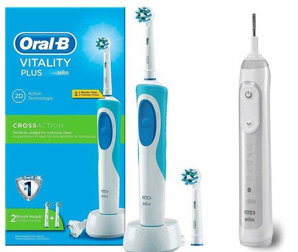 Szczoteczka Oral B Vitality + 2 końcówki Cross Action +