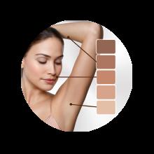 Intelligent SensoAdapt™ skin tone sensor